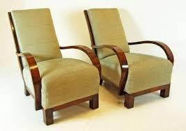 Antique Armchairs Art Deco Original Pair Antique Armchairs Club Chair 100407