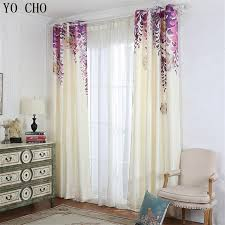 popular curtains yo cho purple vine flowers 3d blackout curtains for living room