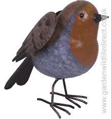 garden bird metal ornament