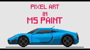 pixel art car making pixel art in ms paint noble m600 youtube