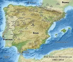Map Of Portugal And Spain by Military Career Of Arthur Wellesley 1st Duke Of Wellington