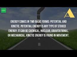is light a form of energy is light energy a form of potential or kinetic energy youtube