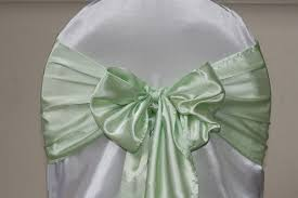 Mint Chair Sashes Simply Elegant Weddings Chair Cover Rentals Wedding Rentals