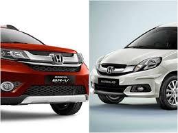 honda car comparison honda br v vs honda mobilio comparison report find