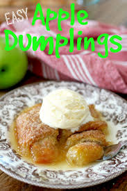 easy apple dumplings the country cook