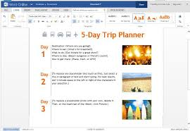 trip planner templates trip planner template for word online