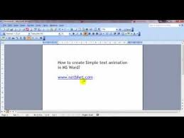 format lop word 2010 ms word simple text animation youtube