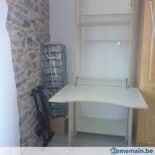 bureau d ordinateur à vendre bureau d ordinateur ikéa en bois blanc avec étagères a vendre