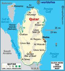 doha qatar map qatar map geography of qatar map of qatar worldatlas com