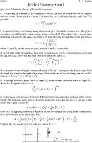 m2a3 one dimensional fluid dynamics