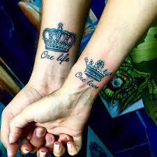 tattoo of queen and king 51 king and queen tattoos for couples page 3 of 5 stayglam