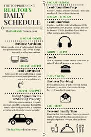 top realtor daily schedule infographic