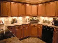 kitchen cabinets and backsplash backsplash for kitchen with honey oak cabinets google search