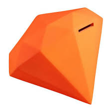 money box galla diamond money box fluorescent orange habitat