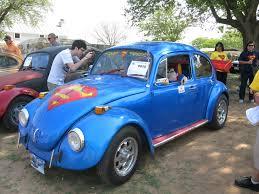 blue volkswagen beetle 1970 superman 0615 texas vw classic