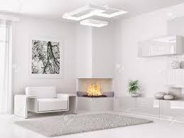 chambre moderne blanche intérieur de la chambre moderne blanc avec fauteuil et cheminée