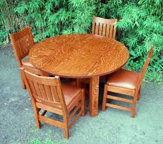Mission Oak Dining Chairs Voorhees Craftsman Mission Oak Furniture Gustav Stickley Oak
