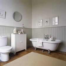 panelled bathroom ideas country bathroom cast iron tub beadboard or woodpanellingon walls
