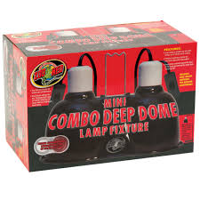 Zoo Med Lights by Zoo Med Mini Combo Deep Dome Lamp Fixtures For Reptiles Reptile