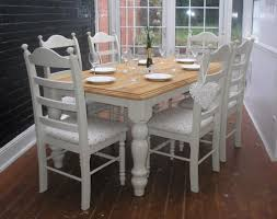 Dining Table White Legs Wooden Top Broken White Knitted Carpet Classic White Dining Table With