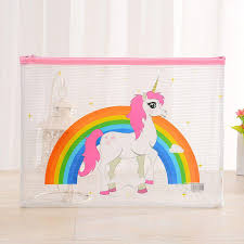 unicorn rainbow unicorn rainbow transparent pencil case u2013 100 unicorns