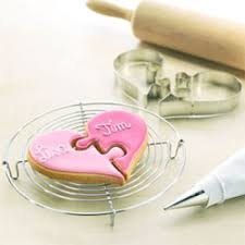 wedding cookie cutters cookie cutters heart puzzle cookie cutter set
