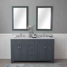 Double Bathroom Vanity 60 Alya Bath Norwalk 60 In Double Bathroom Vanity In Gray With