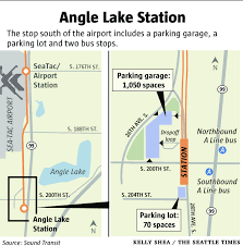 seatac light rail station angle lake light rail station opens saturday with party the
