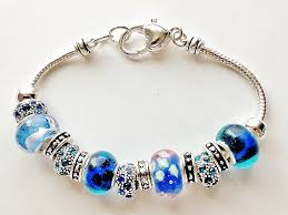 pandora bracelet murano glass images Pandora inspired crazy blue murano glass bead bracelet vintage style jpg