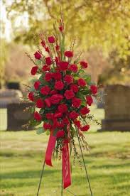 funeral floral arrangements all standing spray san francisco funeral flowers colma