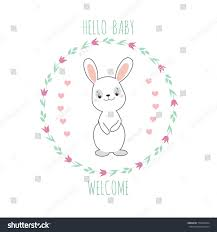 baby shower invitation card cute funny stock vector 713669254