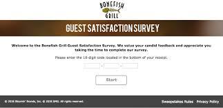 bonefish gift card www bonefishexperience bonefish grill survey win 50 gift card