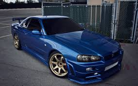 nissan skyline wallpaper nissan skyline gtr r34 blue cars 4752x2970