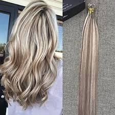 strand by strand hair extensions highlighted hair extensions two tone color nano ring tip