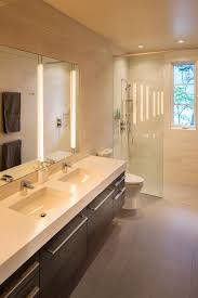 bathroom cabinet with built in laundry her fontana lake house sinks drawers and modern