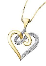heart gold necklace diamonds images Diamond pendant necklace settings jpg