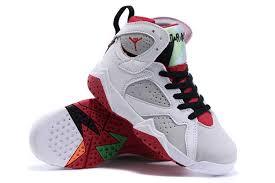 kid jordans kids air 7 retro shoes white gray black 74974 55