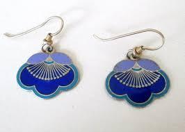 laurel burch earrings cloisonne enamel laurel burch earrings deco style j hook