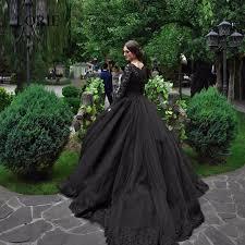 robe de mari e gothique 2017 vintage dentelle noir de mariage robes robes de mariée scoop