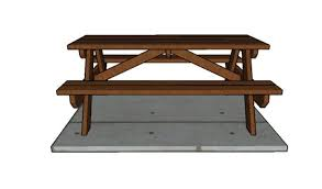 6 u0027 picnic table plans howtospecialist how to build step by