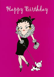 greeting card featuring betty boop