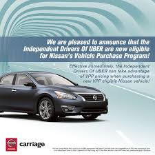 lexus vehicle special purchase program nissan partners with uber to connect uber drivers with new cars
