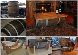 Dyi Coffee Table Wonderful Diy Whiskey Barrel Coffee Table