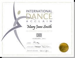the program international dance acclaim