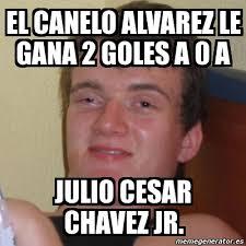 Canelo Meme - meme stoner stanley el canelo alvarez le gana 2 goles a 0 a julio