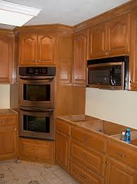 Kitchen Corner Cabinets Options Corner Double Oven Cabinet Rta Cabinets On 45 Degree Angle