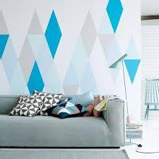 wandgestaltung mit farbe muster wandgestaltung und deko in zarten farben rauten wände und