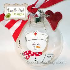 ornament personalized snowman ornament by doodlepaddesigns