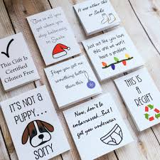 funny gift tags christmas puppy joke holiday by myartfulattitude