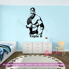 wwe champion triple h figure wall stickers wrestlers vinyl wall wwe champion triple h figure wall stickers wrestlers wall decals jrd cb 29